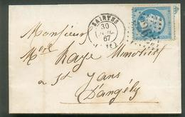 I1 - N° 22 Ob. Saintes GC 3265 - 1862 Napoleon III