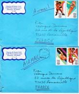 ETATS-UNIS : 1984 - Lot De 2 Lettres Pour La France - Jeux Olympiques - Ete 1984: Los Angeles