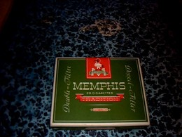 Publicité Paquet Dé Cigarettes   En Carton Vide Marque Memphis Traditions Double Filtre - Autres