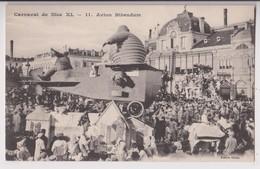 """CARNAVAL DE NICE EN 1912 : CHAR """" AVION BIBENDUM """" ( EMBLEME DE LA MANUFACTURE MICHELIN CREE EN 1898 ) - 2 SCANS - - Carnaval"""