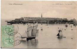 Saint-Malo N°532 - Bateau - Oblitérée à Jersey 1911 - Bisquine Voilier - Saint Malo