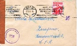 AUTRICHE : 1950 - Lettre Censurée Pour La Tchécoslovaquie - Loterie - Lotterie - 1945-.... 2nd Republic