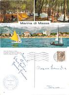 Marina Di Massa. Vedutine. Viaggiata 1966. International Touring Camping - Altre Città