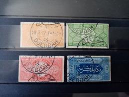ARABIE SAOUDITE. Royaume Du HEDJAZ. 1916. N°4 à 7. Oblitérés. Côte Yvert 20 € - Saudi-Arabien