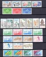 Unesco 1983/91 Neufs** N°75/8,85 à 109    TB   8 € (cote 45,50 €  29 Valeurs) - Neufs