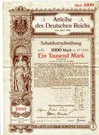 ANLEIHE Des DEUTSCHEN REICHES  über 1.000 Mark Vom Jahre 1901 - Banque & Assurance