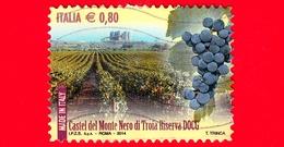 ITALIA - Usato - 2014 - Made In Italy: Vini DOCG - Castel Del Monte Nero Di Troia Riserva - Corato (BA) - Puglia - 0.80 - 2011-...: Oblitérés