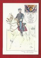 DOUANE - DOUANIERS - 1900 -  CHEF DE BATAILLON DES DOUANES, EN  TENUE DE CAMPAGNE - CARTE MAXIMUM - Aduana