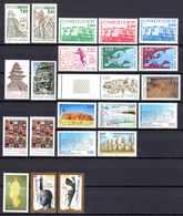 Unesco 1985/99 Neufs** N°91/5,100,106 à 121    TB   9 € (cote 49,40 €  22 Valeurs) - Neufs