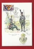DOUANE - DOUANIERS - 1900 -  DOUANIERS ÉQUIPÉS EN GUERRE, EN  GRANDE TENUE  - CARTE MAXIMUM - Aduana
