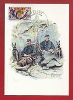 DOUANE - DOUANIERS - 1885 -  DOUANIERS EN SERVICE À LA FRONTIÈRE DU NORD - CARTE MAXIMUM - Aduana