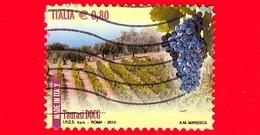 ITALIA - Usato - 2014 - Made In Italy: Vini DOCG - Taurasi - Avellino De Sanctis - Campania - 0.80 - 2011-...: Oblitérés