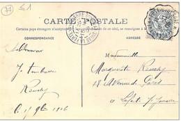 """Cachet Convoyeur """"Verdelot A La Ferté S Jouarre"""" Blanc Indice=3 Frappe Superbe Luxe Cp Bellot 2 Scans - Railway Post"""