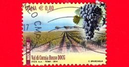 ITALIA - Usato - 2014 - Made In Italy: Vini DOCG - Val Di Cornia Rosso - Piombino (LI) - Toscana - 0.80 - 2011-...: Oblitérés