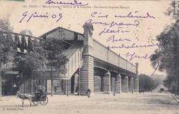 75 PARIS. CPA.RARETE. VOITURETTE A ANE. AU METROPOLITAIN STATION GLACIERE. BOULEVARD AUGUSTE BLANQUI.ANNEE 1909 + TEXTE - Arrondissement: 13