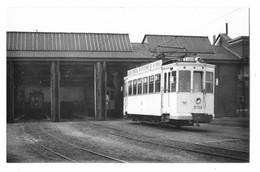 BELGIQUE TRAMWAY ELECTRIQUE DE LA SNCV Photographie Format Cpa Motrice Dépot 1950 Beau Plan - Other