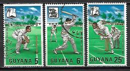 GUYANA   -  1967.    Série 3 Valeurs.   Sport  /  Cricket. - Cricket