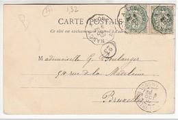 """Cachet Convoyeur """"Nancy A Longuyon 1902"""" Blanc Indice=2 Frappe Superbe Cp Pont A Mousson 2 Scans - Railway Post"""