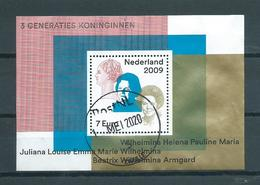2009 Netherlands Complete M/Sheet 3 Generaties Koninginnen Used/gebruikt/oblitere - Blocchi