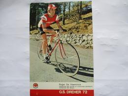 Cyclisme Cp Roger De Vlaeminck 1972 - Cycling