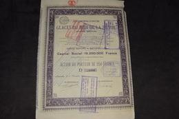 Glaces Du Midi De La Russie 250 Francs Capital 18 250 000 Francs 1924 - Russia
