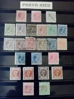 PORTO RICO .1890 à 1898. LOT De 24 Timbres ( 14 Neufs 10 Obl ) Côte Yvert 17,60 € - Briefmarken