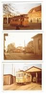REUTLINGEN (Allemagne) Ensemble De 3 Photographies Tramways électriques Dépots Eningen Oferdingen 1967 - Reutlingen