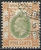 HONG  KONG   -   1904  .  Y&T N°  80 Oblitéré.   . - Hong Kong (...-1997)