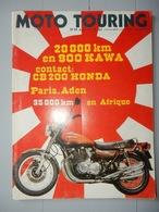ANCIENNE REVUE N°14 AVRIL MAI 1974 MOTO TOURING 900 KAWA HONDA CB 200 - Moto