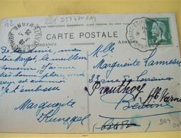 """Rare Cachet Convoyeur """"Craponne A St Etienne 1° 1925"""" Pasteur Indice=6 Frappe TB Cp Rochetaillée 2 Scans - Railway Post"""