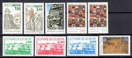 Unesco 1986/94 Neufs** N°91/5,110/13      TB   3 € (cote 16,90 €  9 Valeurs) - Neufs