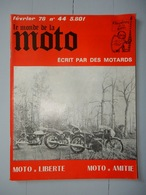 ANCIENNE REVUE N°78 FÉVRIER 1978 LE MONDE DE LA MOTO - Moto