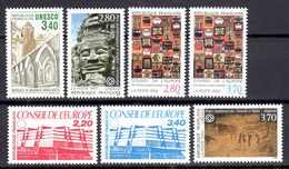 Unesco 1986/94 Neufs** N°92,94/5,110/13      TB   2,50 € (cote 14,40 €  7 Valeurs) - Service