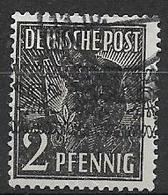 GERMANIA OCCUPAZIONE ALLEATA 1948 EMISSIONI PER LE ZONE AMERICANA E BRITANNICA UNIF.21  USATO VF - Bizone