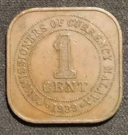 MALAISIE - 1 CENT 1939 - George VI - KM 2 - ( Malaysia ) - Malaysia
