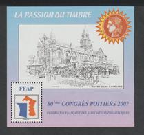 """BLOC   F.F.A.P.  - N° 1  -  Poitiers  2007  """" 80 éme Congrès """"   85 éme CONGRES     -  NEUF - - CNEP"""