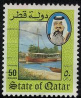 Qatar 1984 Oblitéré Used Navire Dhow Boutre Bateau Traditionnel Arabe Voilier SU - Qatar