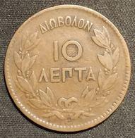 GRECE - 10 LEPTA 1869 - George I - KM 43 - ( Greece ) - Greece