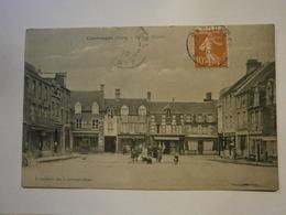 Carrouges Place Du Marché,Orne 61,voyagée 1910, Très Bel état,pas Commun - Carrouges
