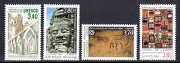 Unesco 1986/94 Neufs** N°92,110/12      TB   1,40 € (cote 8,20 €  4 Valeurs) - Neufs