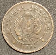 ARGENTINE - 1 UN CENTAVO 1884 - KM 32 - ( Argentina ) - Argentina