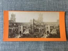 1880 Photo Privée Carte Stéréoscopique Stéréo Portugal Château De La Regna Cintra - Portugal