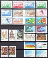 Unesco 1986/96 Neufs** N°93 à 117      TB   9 € (cote 49,65 €  25 Valeurs) - Neufs