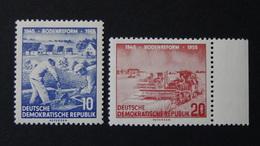 Germany - DDR - 1955 - Mi:DD 482YI,483XI Sn:DD 256,257 Yt:DD 211,212**MNH - Look Scan - [6] République Démocratique