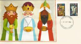 Les Rois Mages. St Mary's Cathedral Sydney (vitraux)   FDC  Australie.  (Noël Australien) - Weihnachten