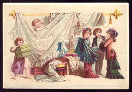 Cartão Publicidade Loja Modas Praça D.Pedro (Rossio) LISBOA. Litho Advertising VTC Victorian Trade Card PORTUGAL 1880s - Cromo