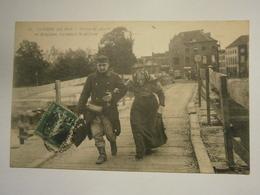Guerre De 1914 Vision De Guerre En Belgique Le Passé,le Présent,voyagé 1915,très Bel état,rare - Belgio