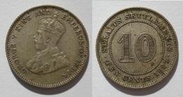STRAITS SETTLEMENTS 10 CENTS 1927 SILVER, ARGENT. - Coins