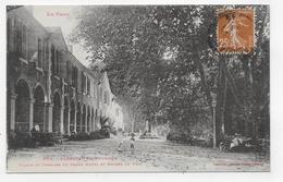 (RECTO / VERSO) BARBOTAN EN 1925 - N° 604 - FACADE DU GRAND HOTEL AVEC ENFANTS - BEAU CACHET - CPA VOYAGEE - Barbotan
