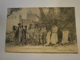Le Maroc Pittoresque Un Groupe D'enfants,écrite 1915,très Bel état Pas Commun, P.Grébert - Marocco